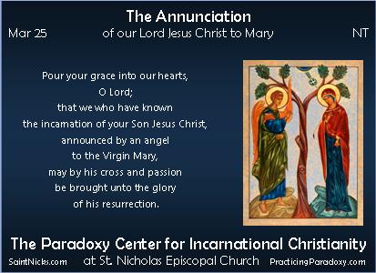 Mar 25 - The Annunciation